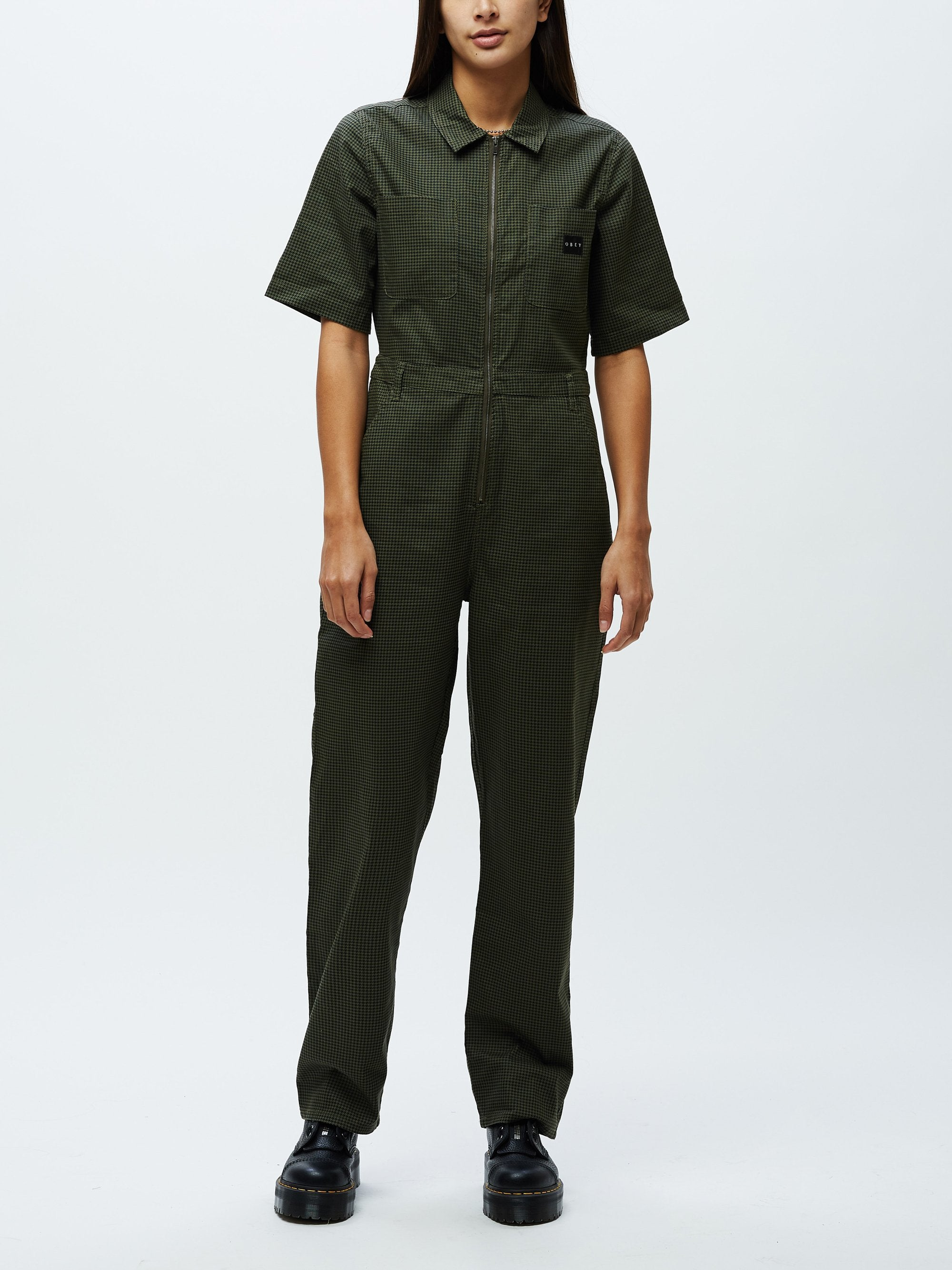 OBEY W'S JUMPERS OLLIE COVERALL - OLIVE