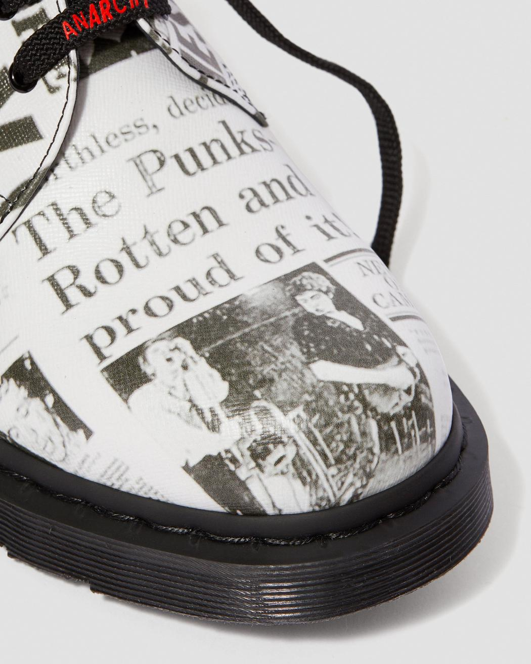 DR MARTENS M'S FOOTWEAR 1461 SEX PISTOLS LEATHER PRINTED OXFORD SHOE