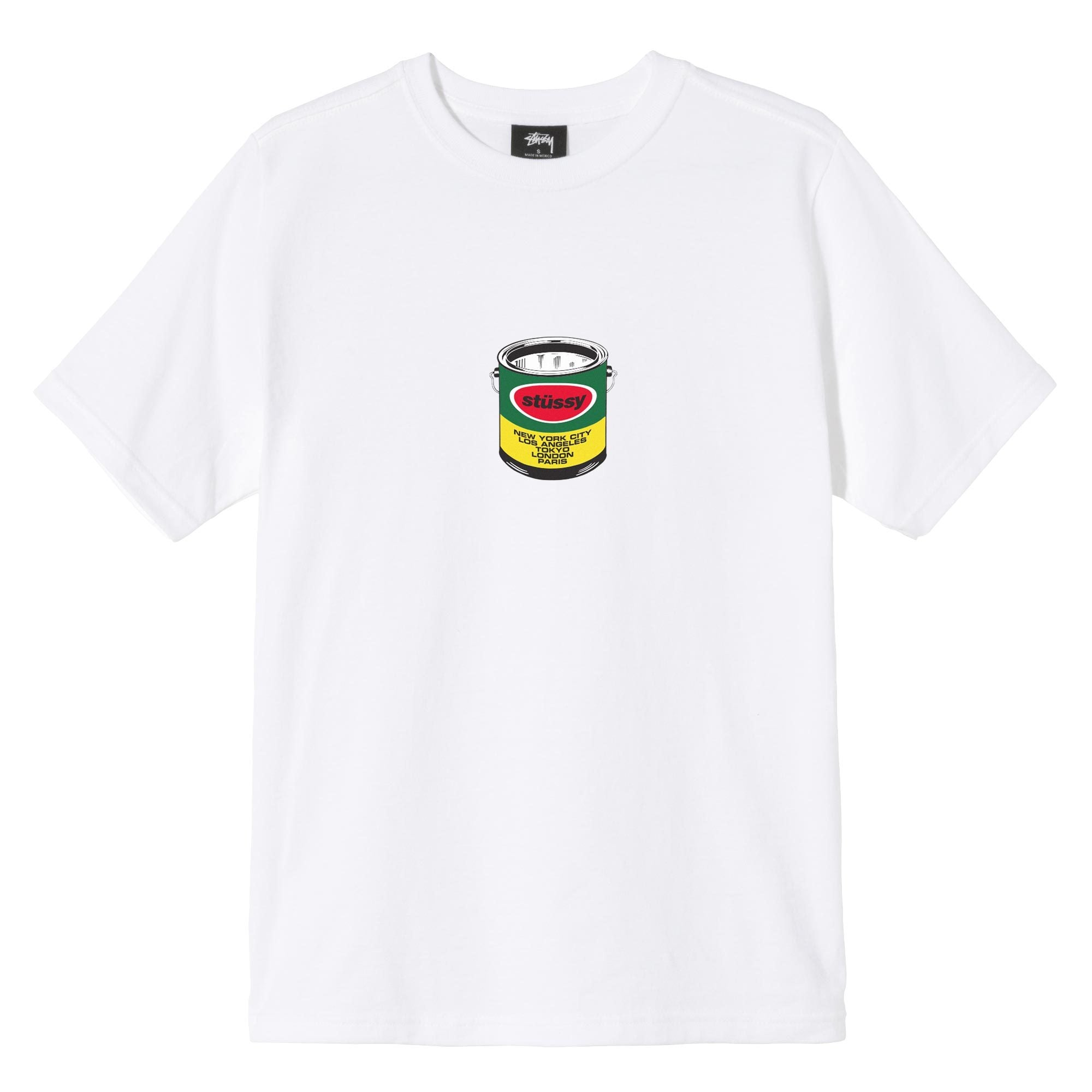 STUSSY W'S T-SHIRTS W PAINT CAN TEE