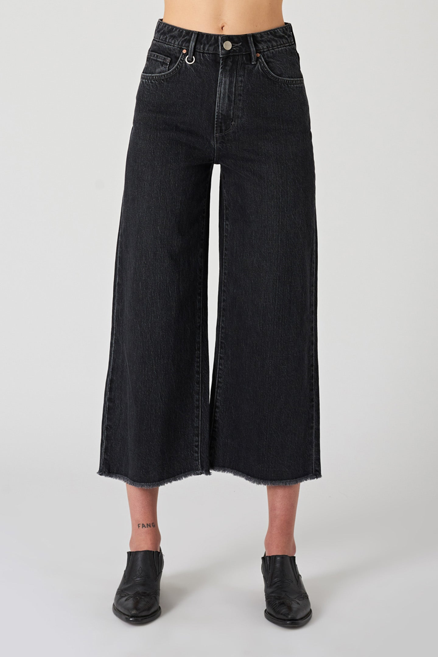 NEUW W'S PANTS PIXIE CROP - ZERO DUSTY BLACK