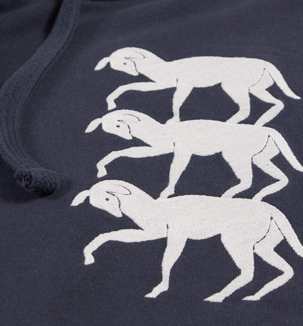 STACKED GOATS HOODED SWEATSHIRT