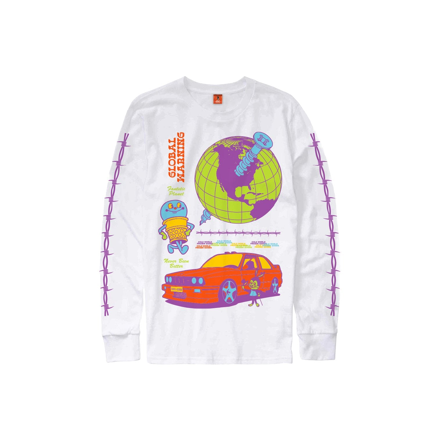 COLD WORLD M'S T-SHIRTS GLOBAL WARNING LONG SLEEVE
