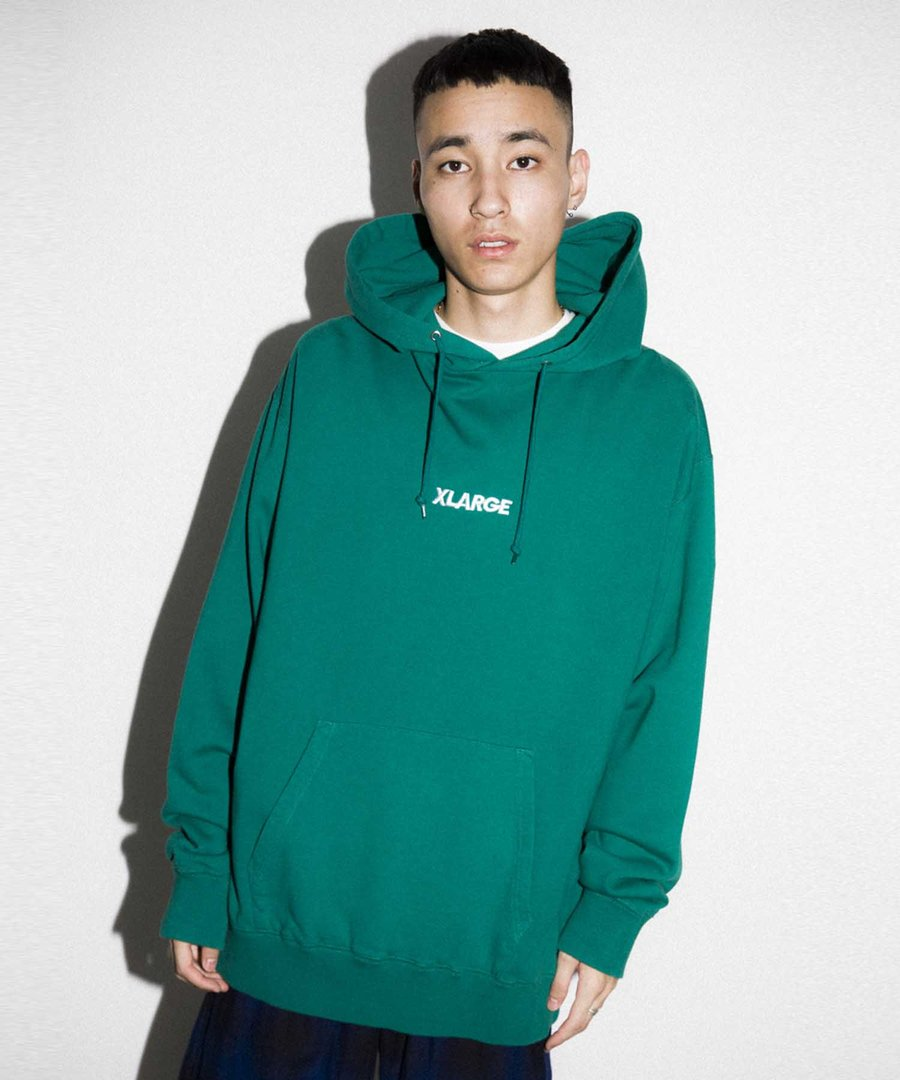 EMBROIDERY STANDARD LOGO 2 PULLOVER HOODED SWEAT 2 - DKGREEN