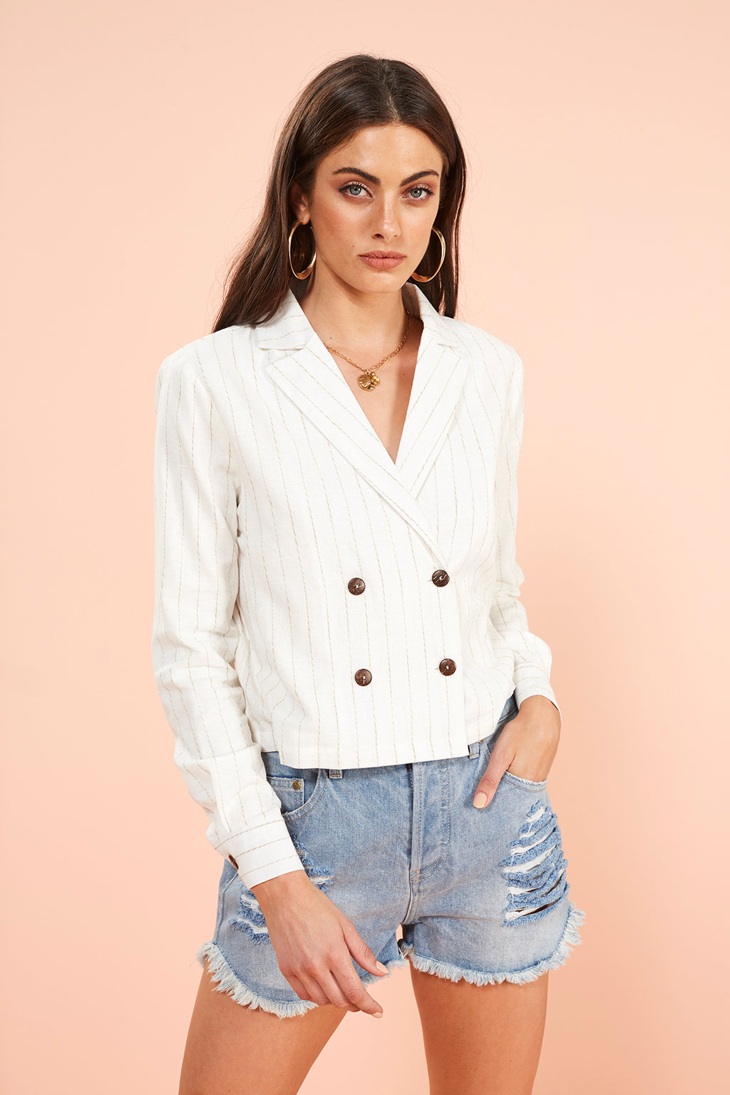 STRIPE BLAZER SHIRT