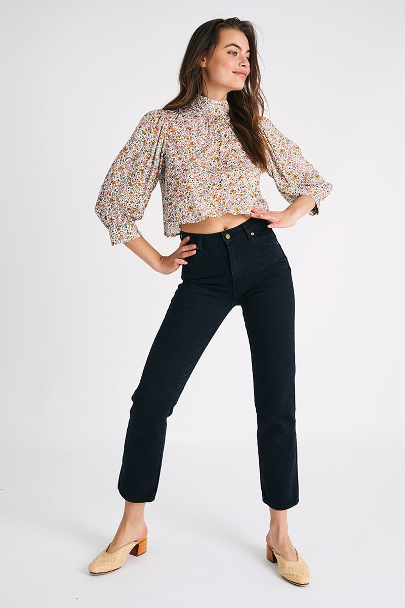 STEPHANIE COAST FLORAL BLOUSE