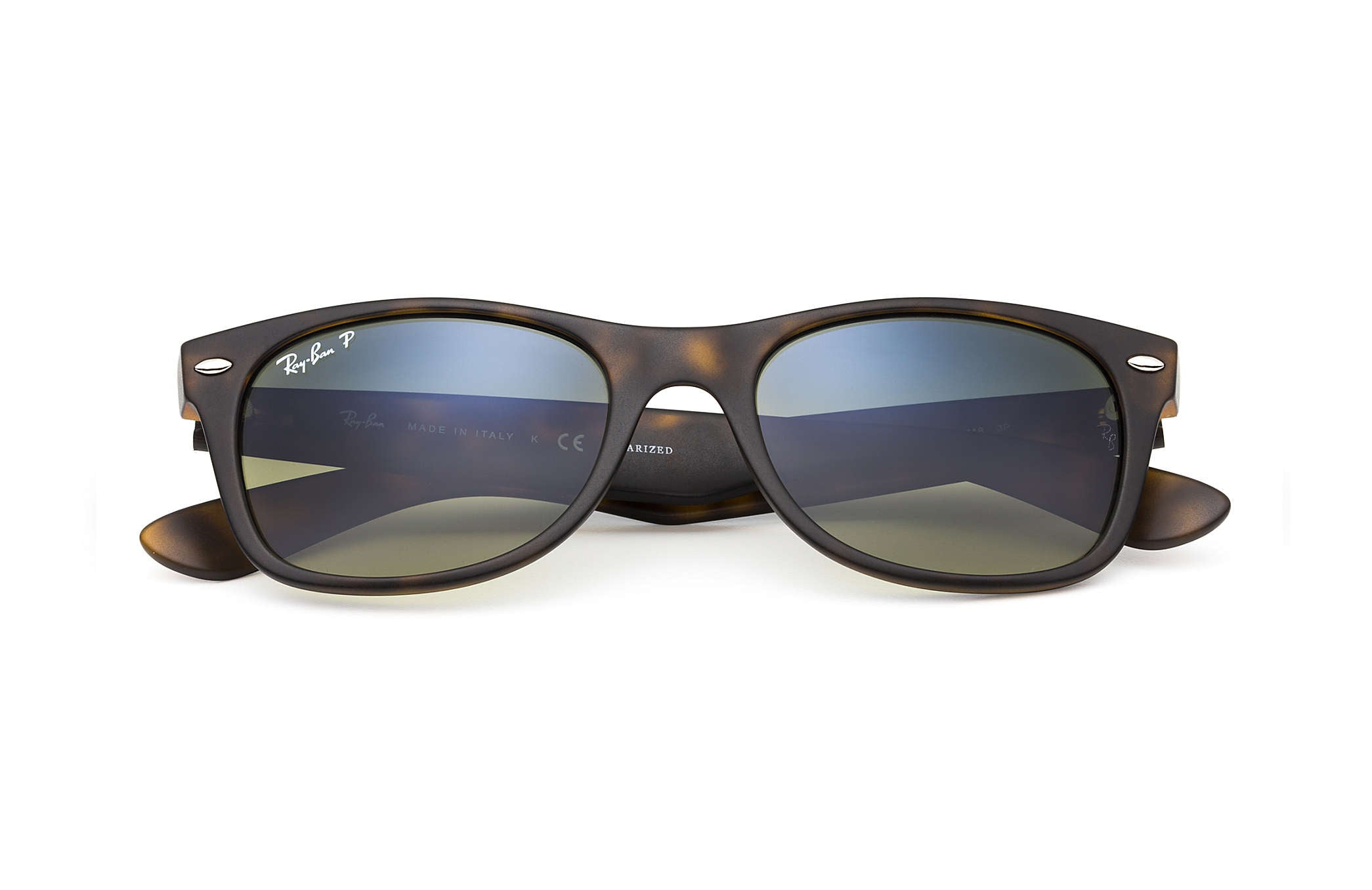 RAY-BAN SUNGLASSES Default NEW WAYFARER SUNGLASSES MATTE HAVANA TORTOISE - BLUE/GREEN GRADIENT