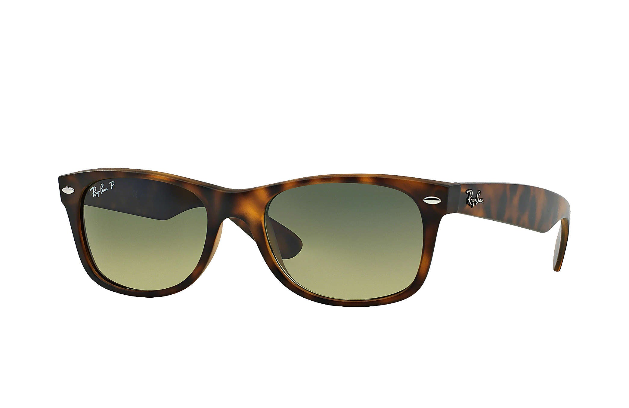 NEW WAYFARER SUNGLASSES MATTE HAVANA TORTOISE - BLUE/GREEN GRADIENT