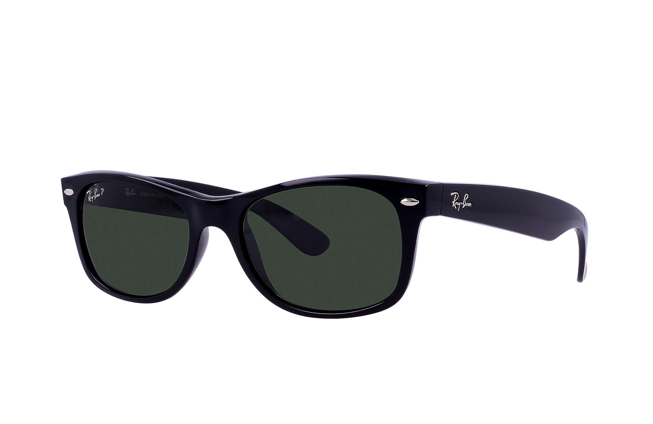 NEW WAYFARER SUNGLASSES BLACK / GREEN CLASSIC POLARIZED
