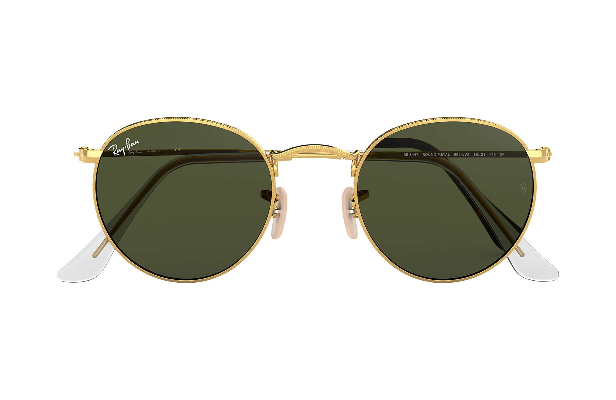 ROUND METAL SUNGLASSES GOLD - GREEN CLASSIC