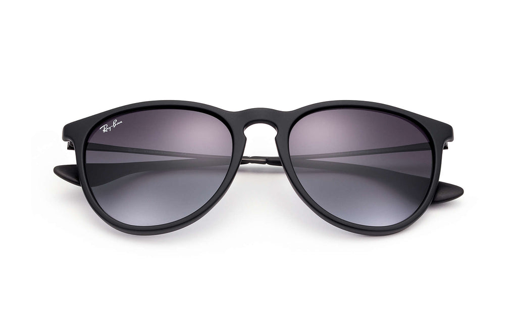ERIKA SUNGLASSES RUBBER BLACK - GREY GRADIENT