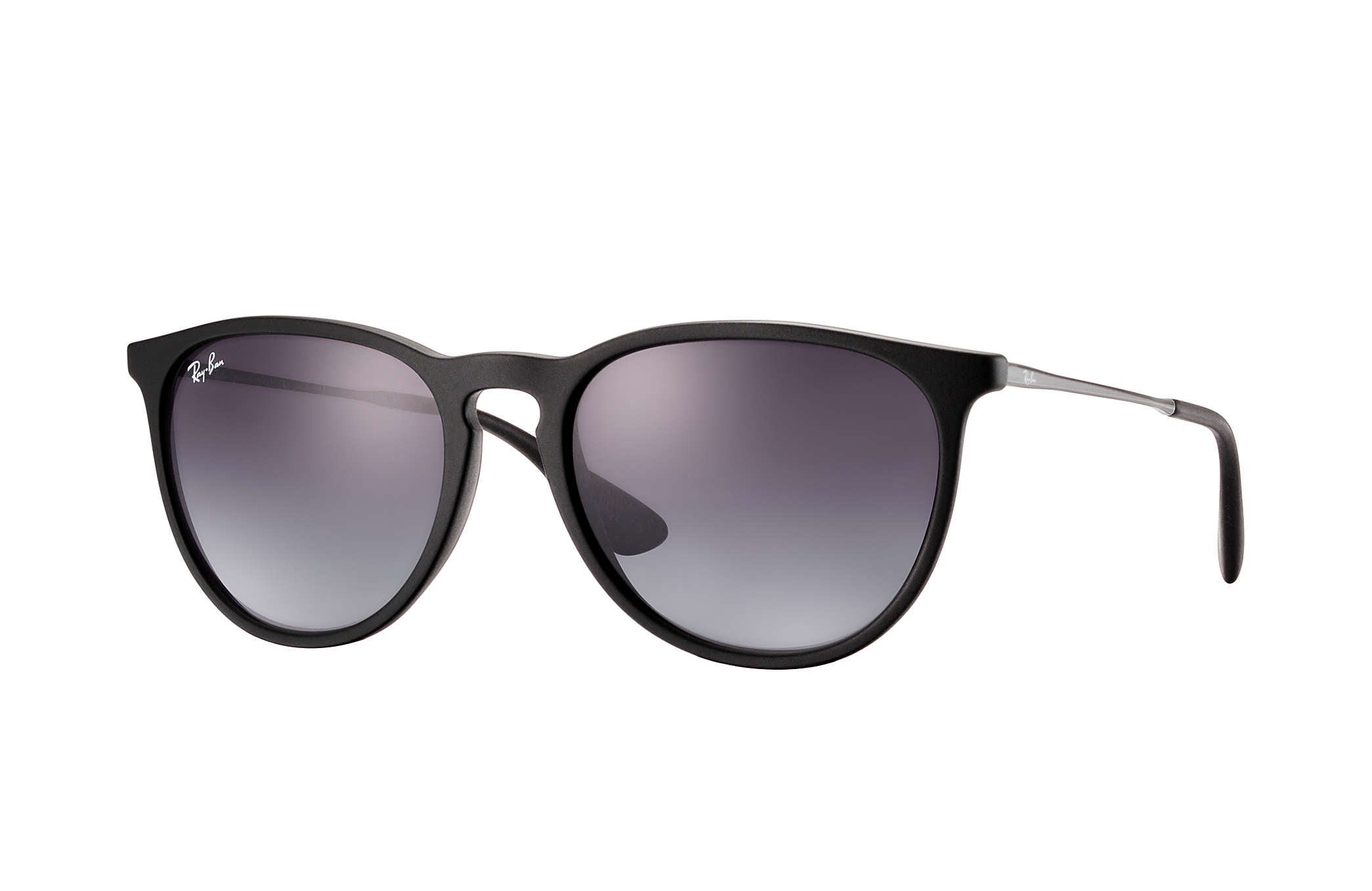 RAY-BAN SUNGLASSES Default ERIKA SUNGLASSES RUBBER BLACK - GREY GRADIENT