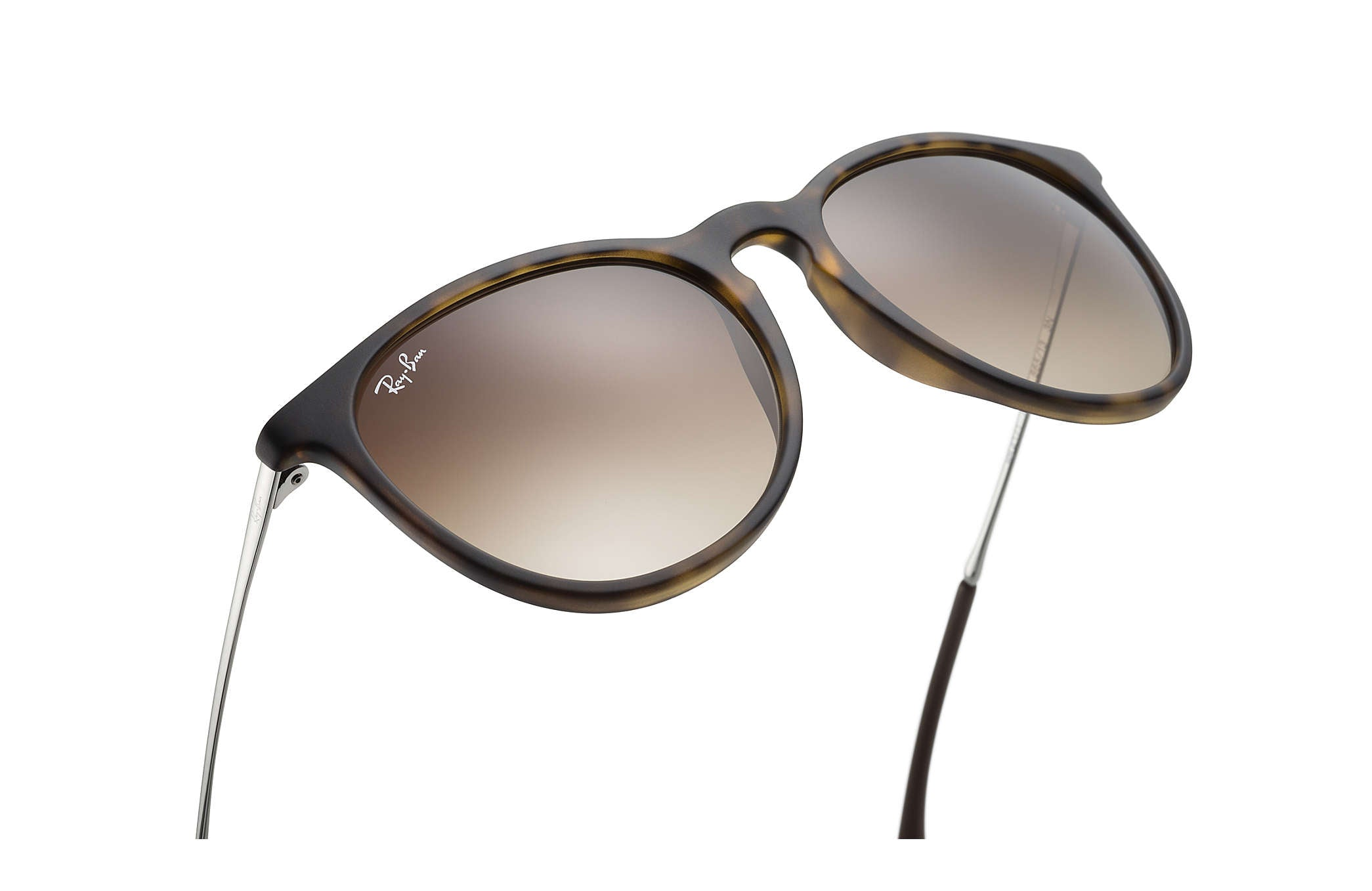 RAY-BAN SUNGLASSES Default ERIKA SUNGLASSES RUBBER TORTOISE / GUNMETAL - BROWN GRADIENT