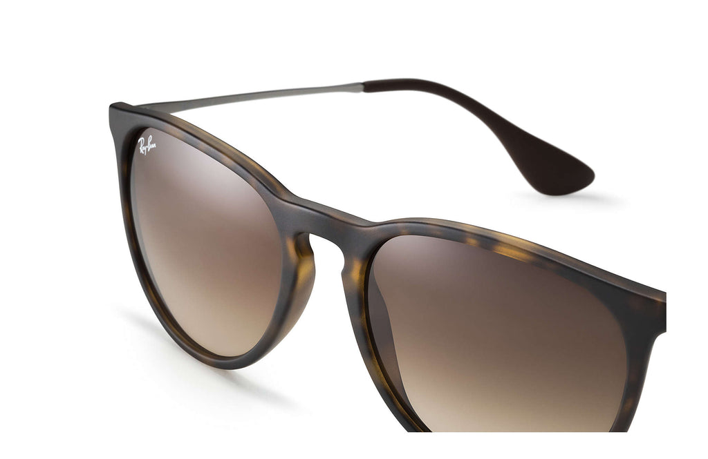 ERIKA SUNGLASSES  RUBBER TORTOISE / GUNMETAL - BROWN GRADIENT