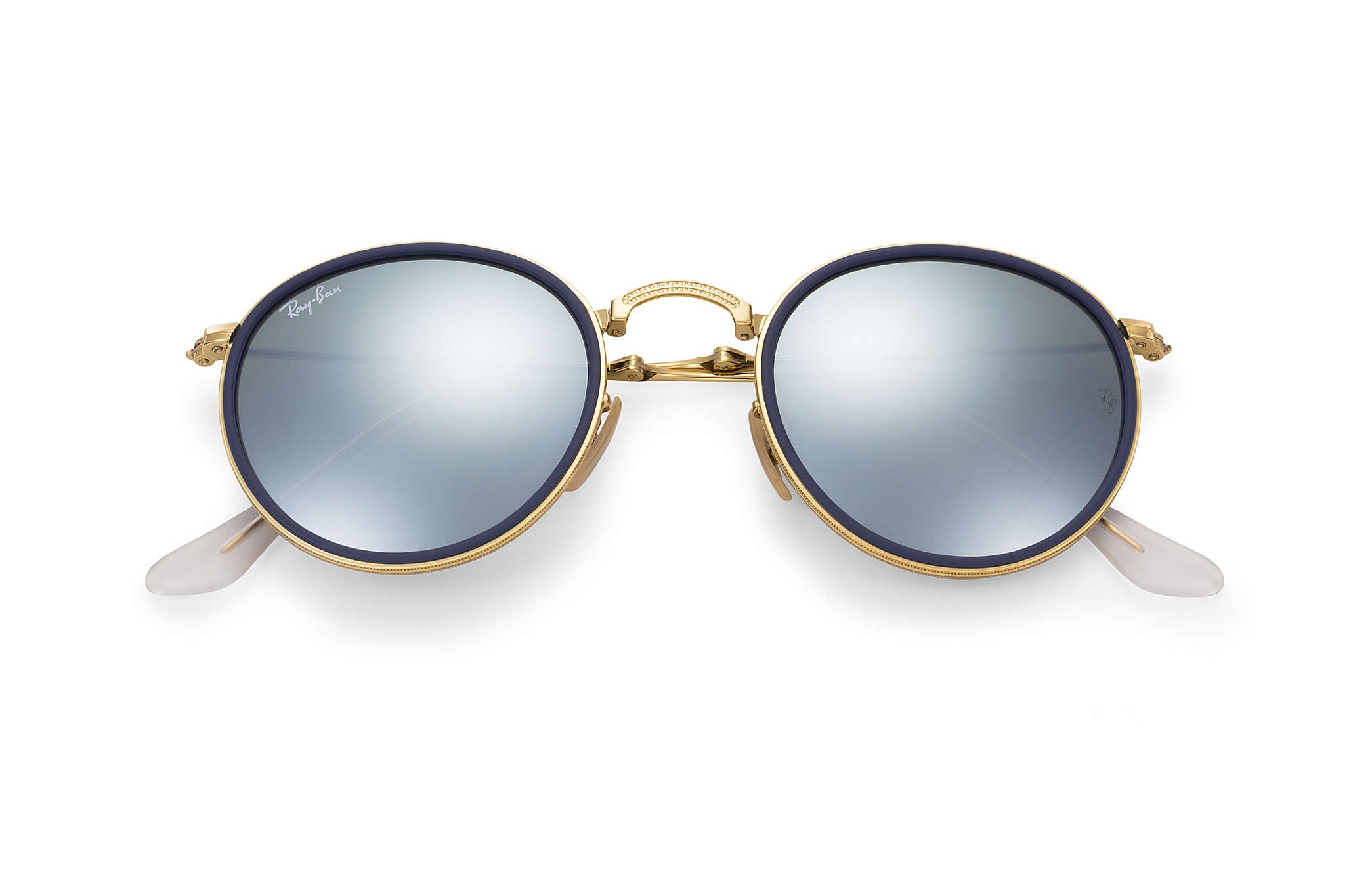 ROUND FOLDING I SUNGLASSES GOLD - SILVER FLASH