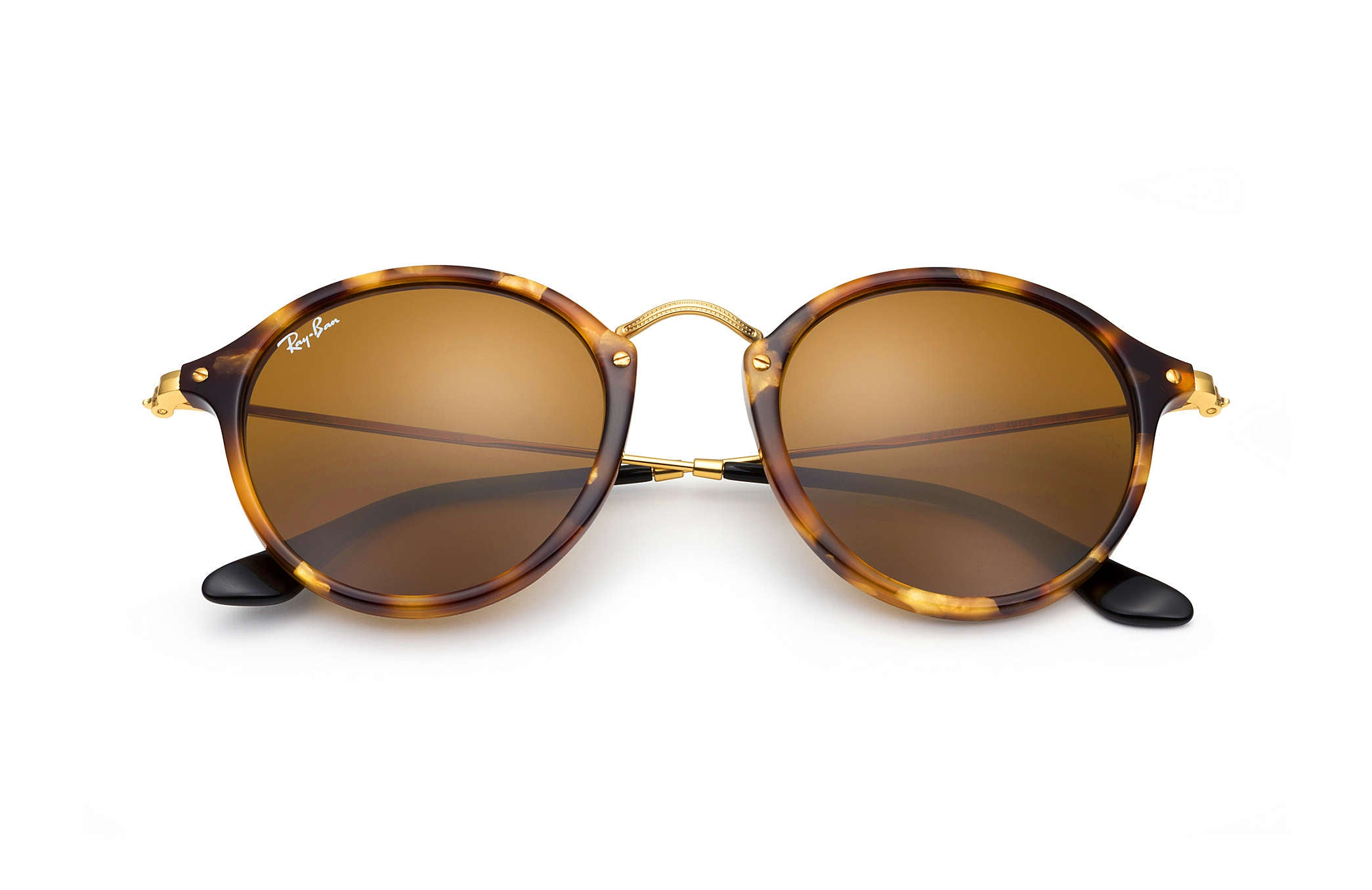 ROUND SUNGLASSES SPOTTED BROWN HAVANA TORTOISE - BROWN CLASSIC