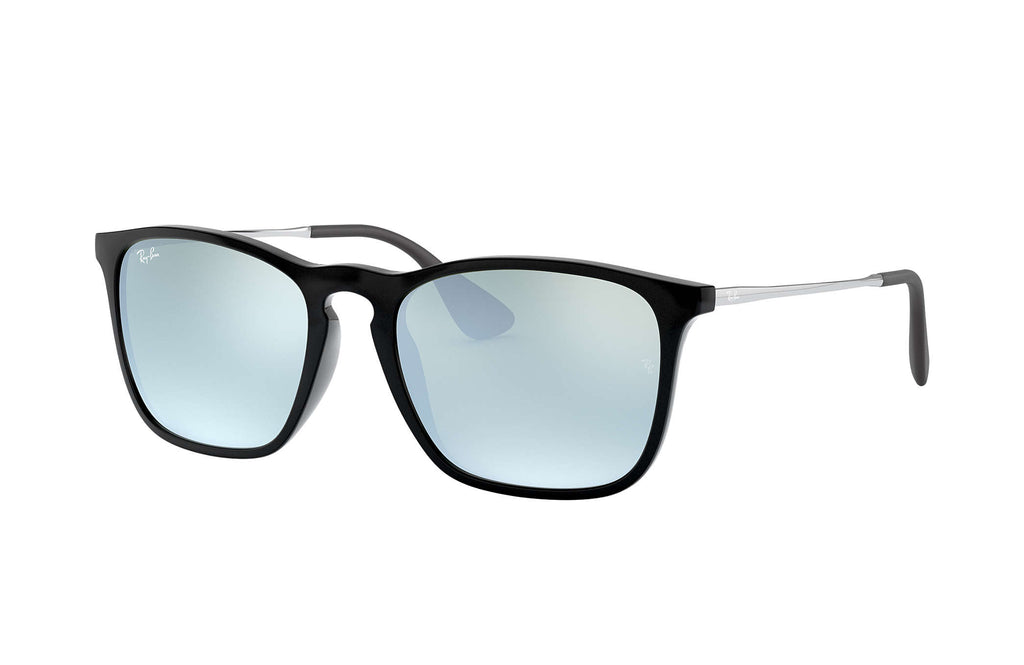 CHRIS SUNGLASSES BLACK - GUNMETAL SILVER MIRROR