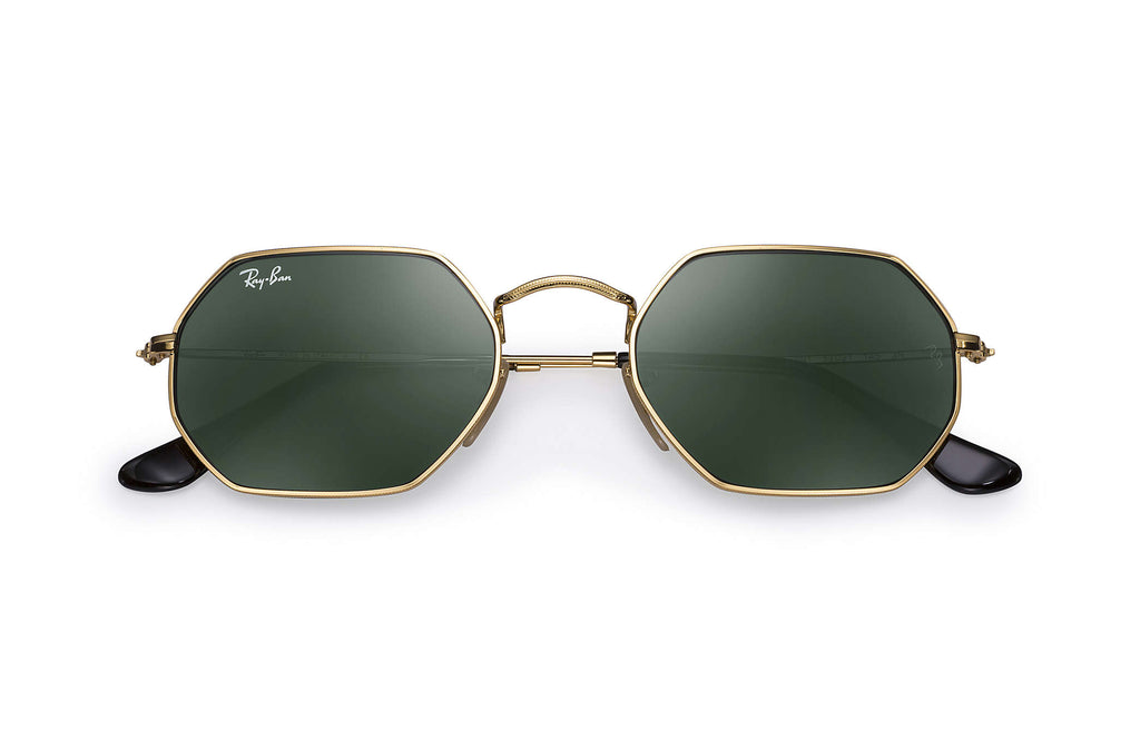 OCTAGONAL SUNGLASSES GOLD - GREEN CLASSIC