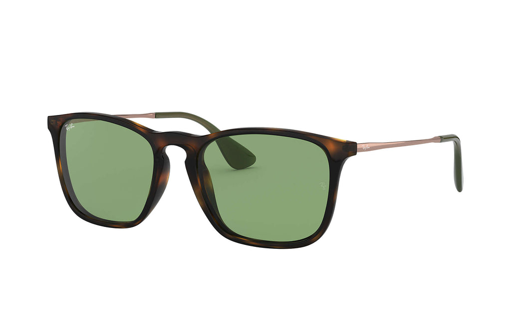 CHRIS SUNGLASSES HAVANA TORTOISE / BRONZE - COPPER GREEN