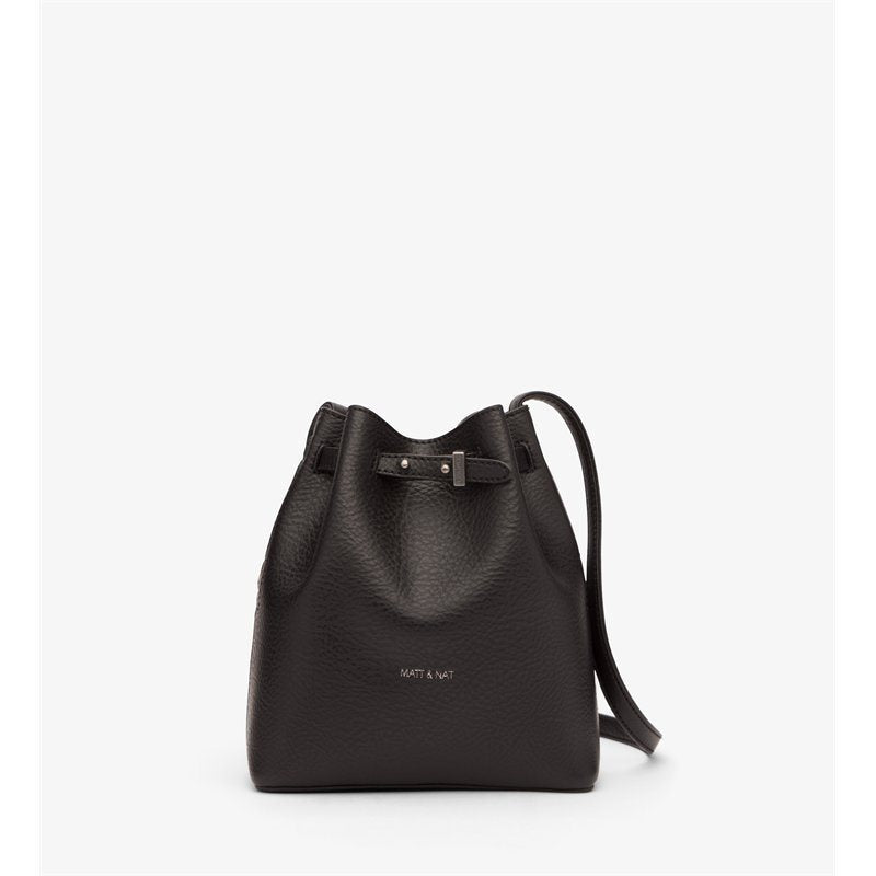MATT & NAT HAND BAGS BLK O/S MATT & NAT LEXI MINI BUCKET BAG - BLACK