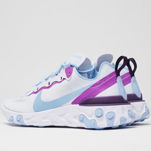NIKE W'S FOOTWEAR NIKE REACT ELEMENT 55 - FOOTBALL GREY/HYPER VIOLET
