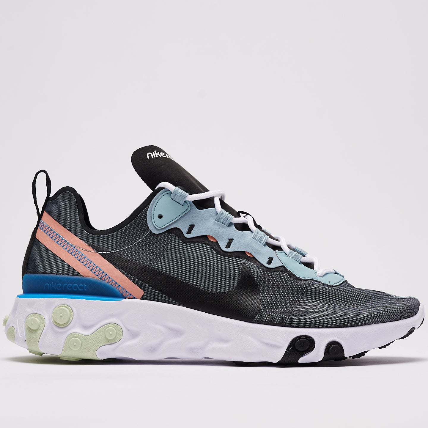 NIKE REACT ELEMENT 55 - OCEAN CUBE/BLACK-PINK QUARTZ