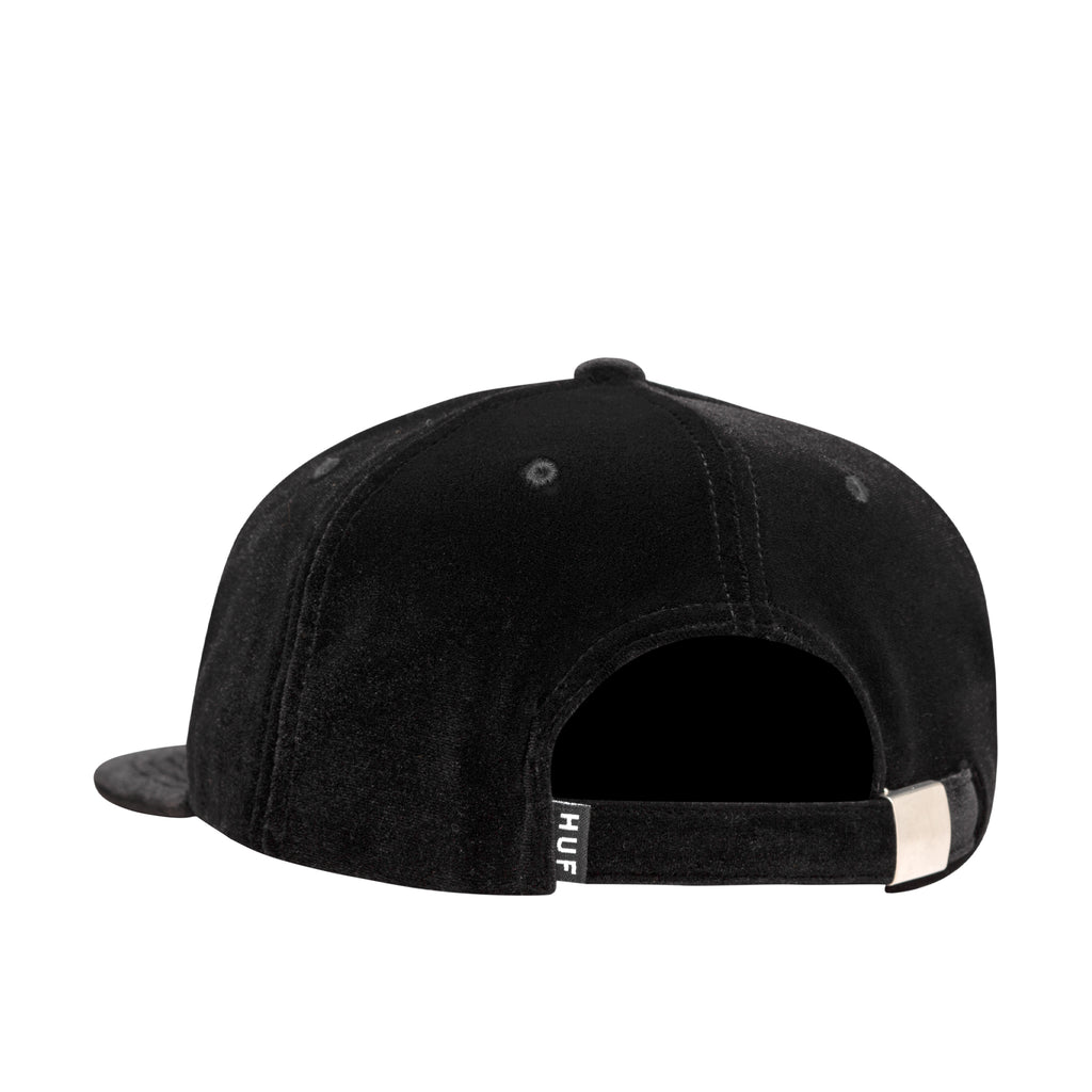 BED OF ROSES 6 PANEL HAT - BLACK