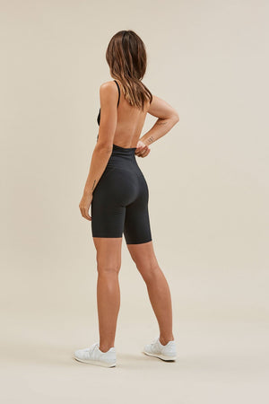 HIGH-RISE BIKE SHORT - BLACK