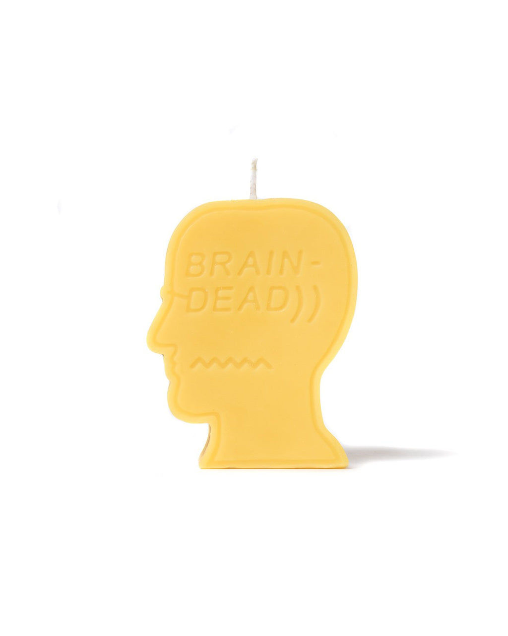 LOGO HEAD CANDLE - YELLOW