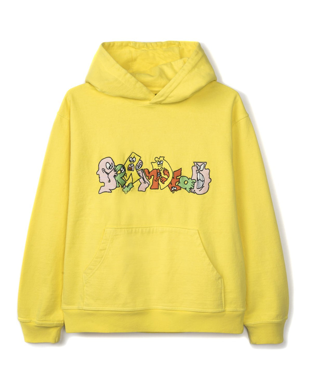 EMBROIDERED GRAFFITI HOODIE - YELLOW