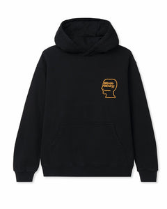 BRAINDEAD M'S HOODIES LOVER'S EMBRACE HOODIE - BLACK