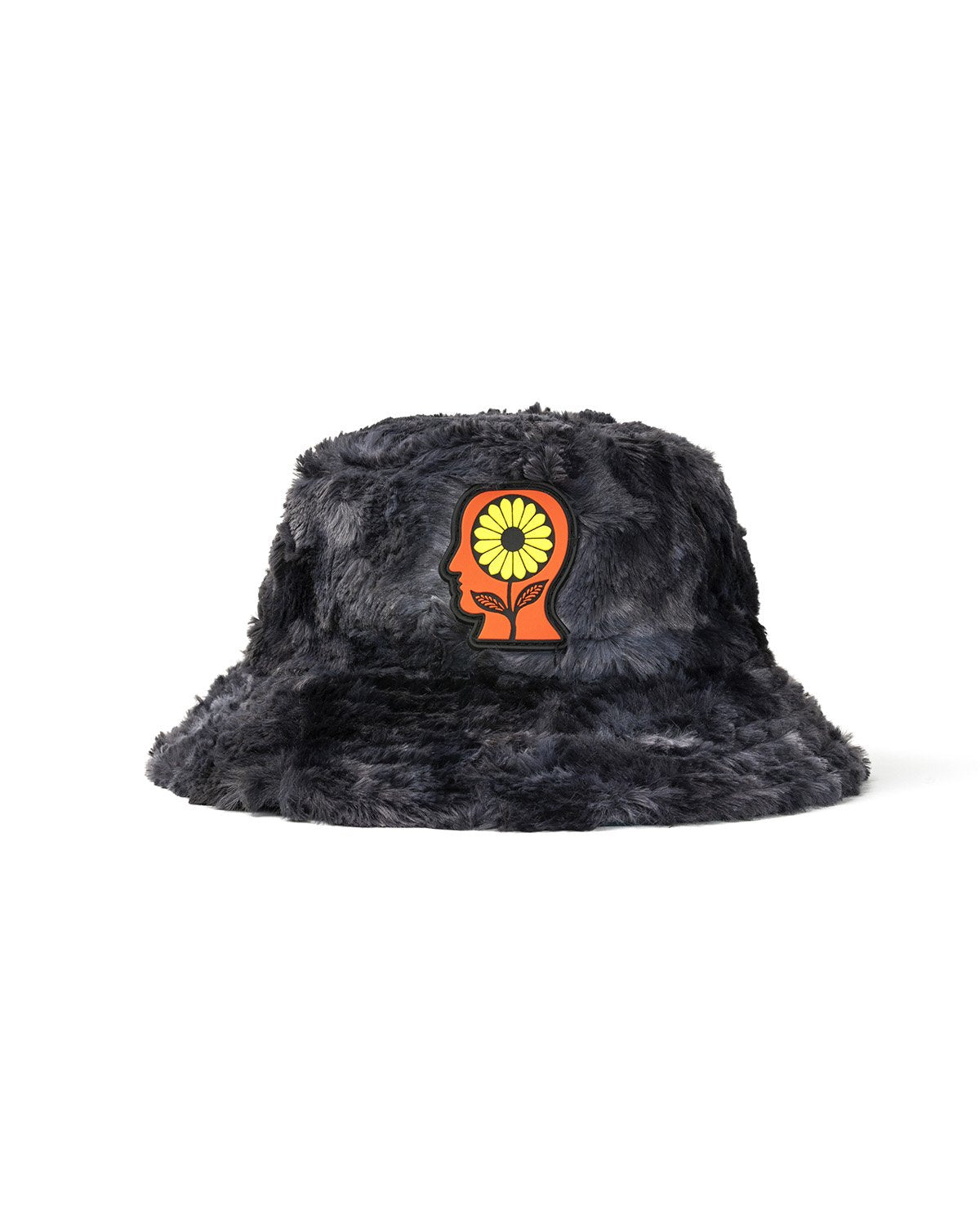 BRAINDEAD HATS REVERSIBLE SUNFLOWER BUCKET HAT - CHARCOAL