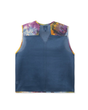 BRAINDEAD M'S CASUAL JACKETS DYED CANVAS SPACER MESH TACTICAL VEST - TIE DYE