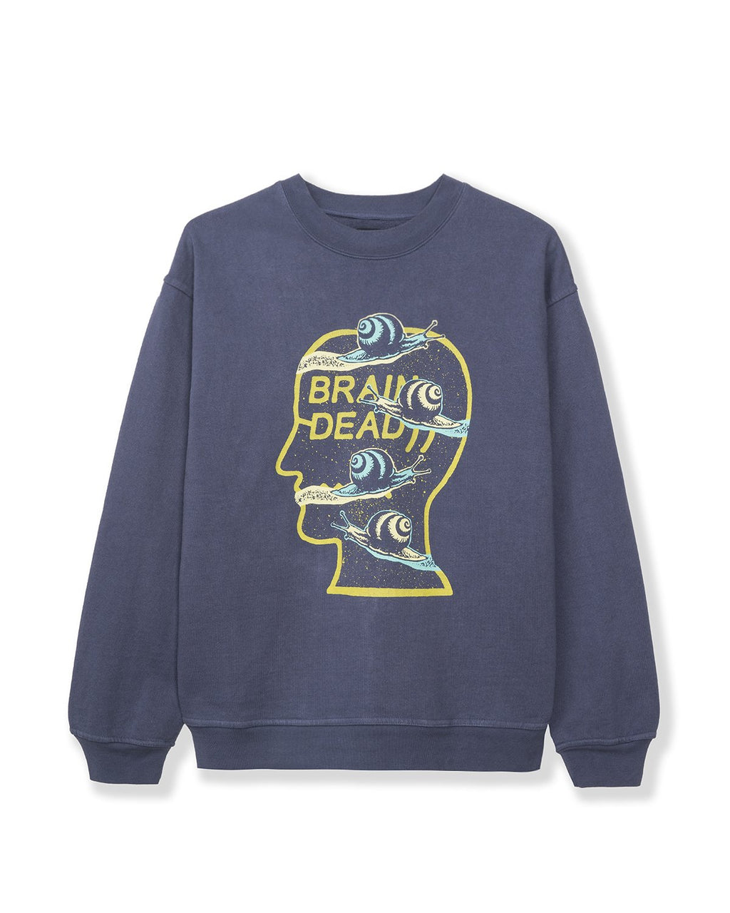 SNAIL TRAIL CREW NECK - WASHED NAVY