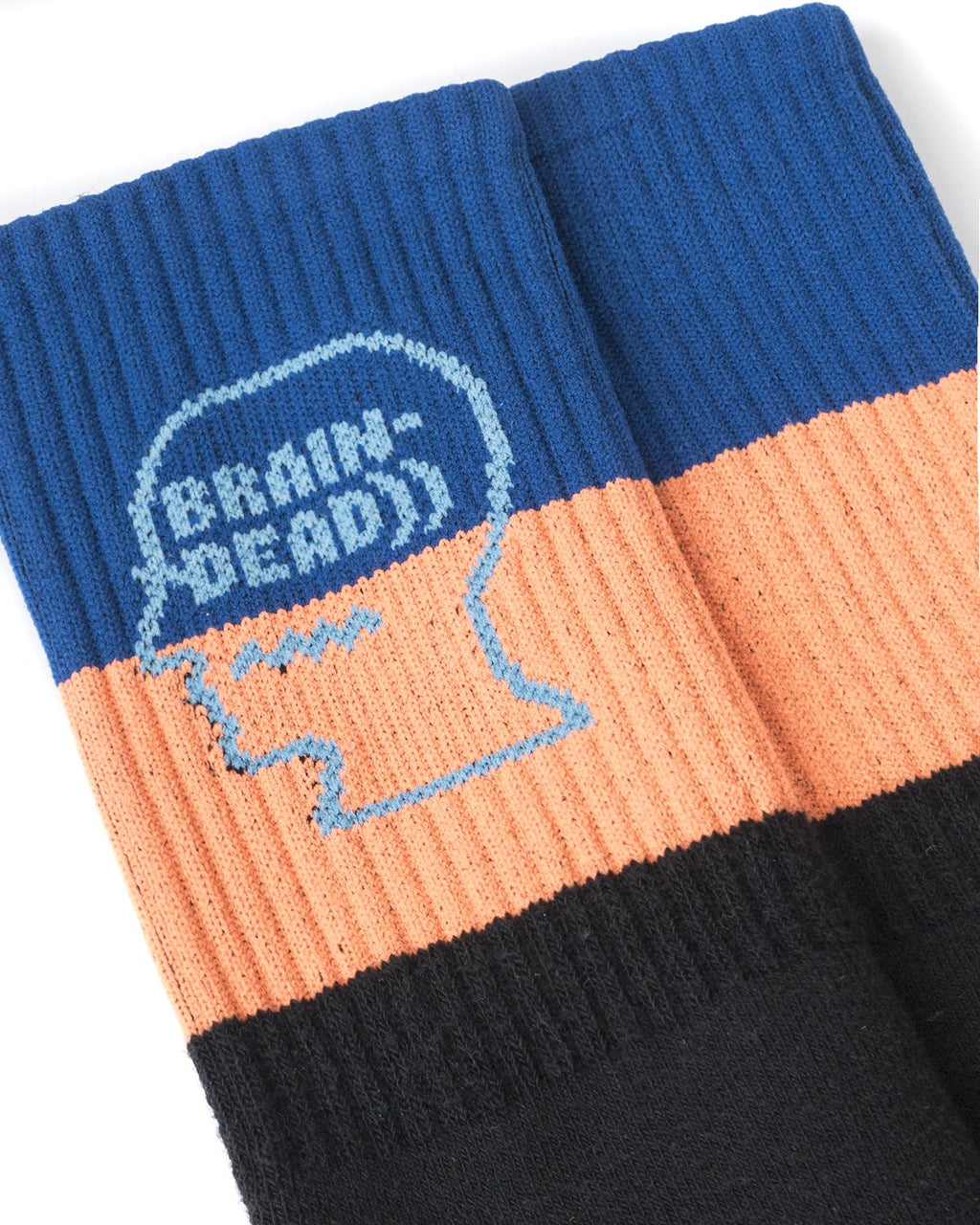 STRIPED LOGO HEAD SOCK - BLUE/ORANGE/BLACK