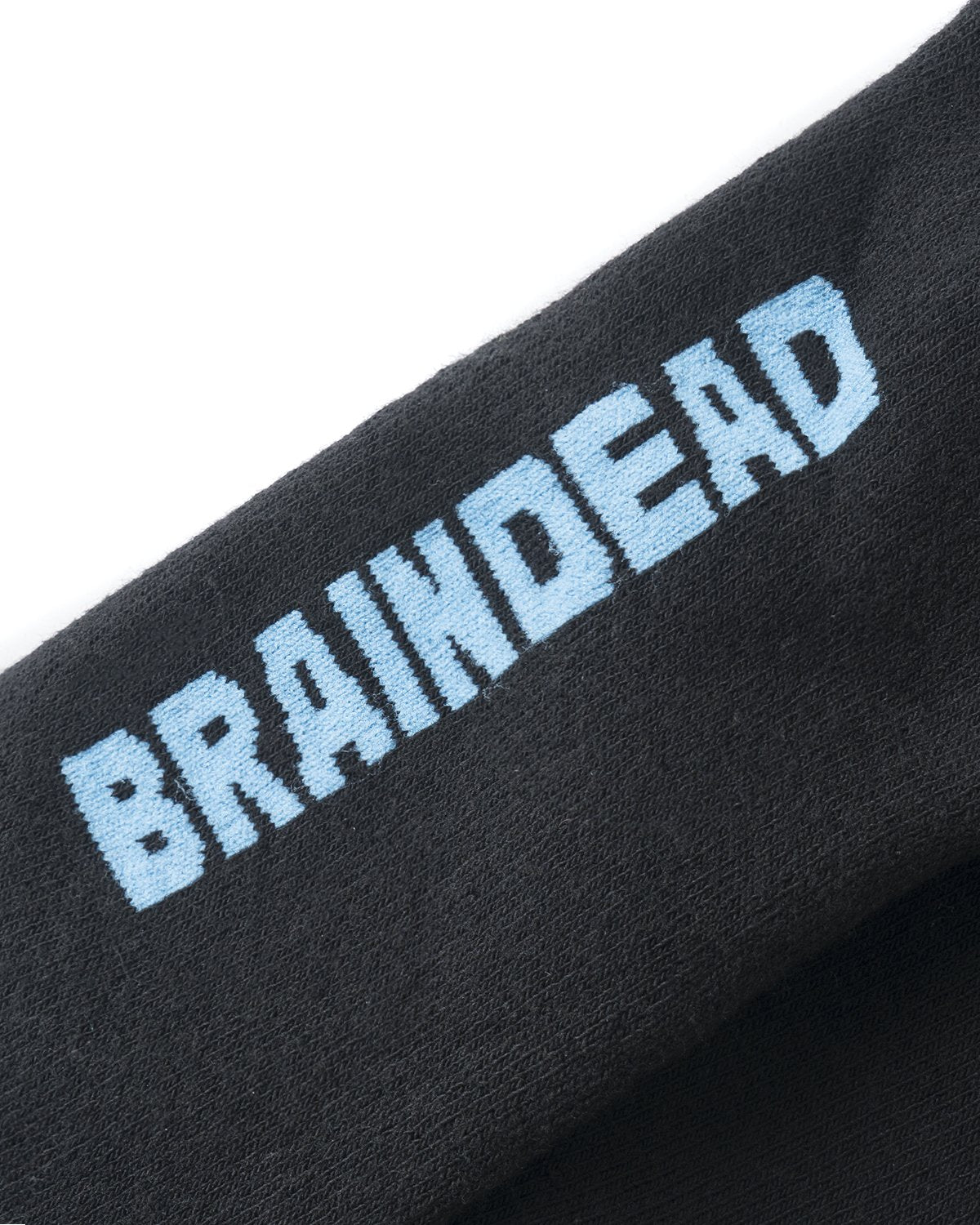 BRAINDEAD SOCKS MULTI O/S STRIPED LOGO HEAD SOCK - PINK/NATURAL/BLACK/TEAL