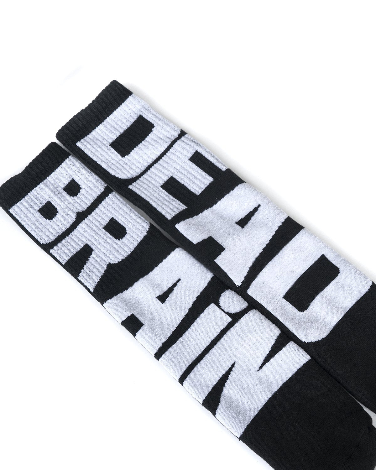 BRAINDEAD SOCKS MULTI O/S VERTICAL TYPE SOCKS - BLACK