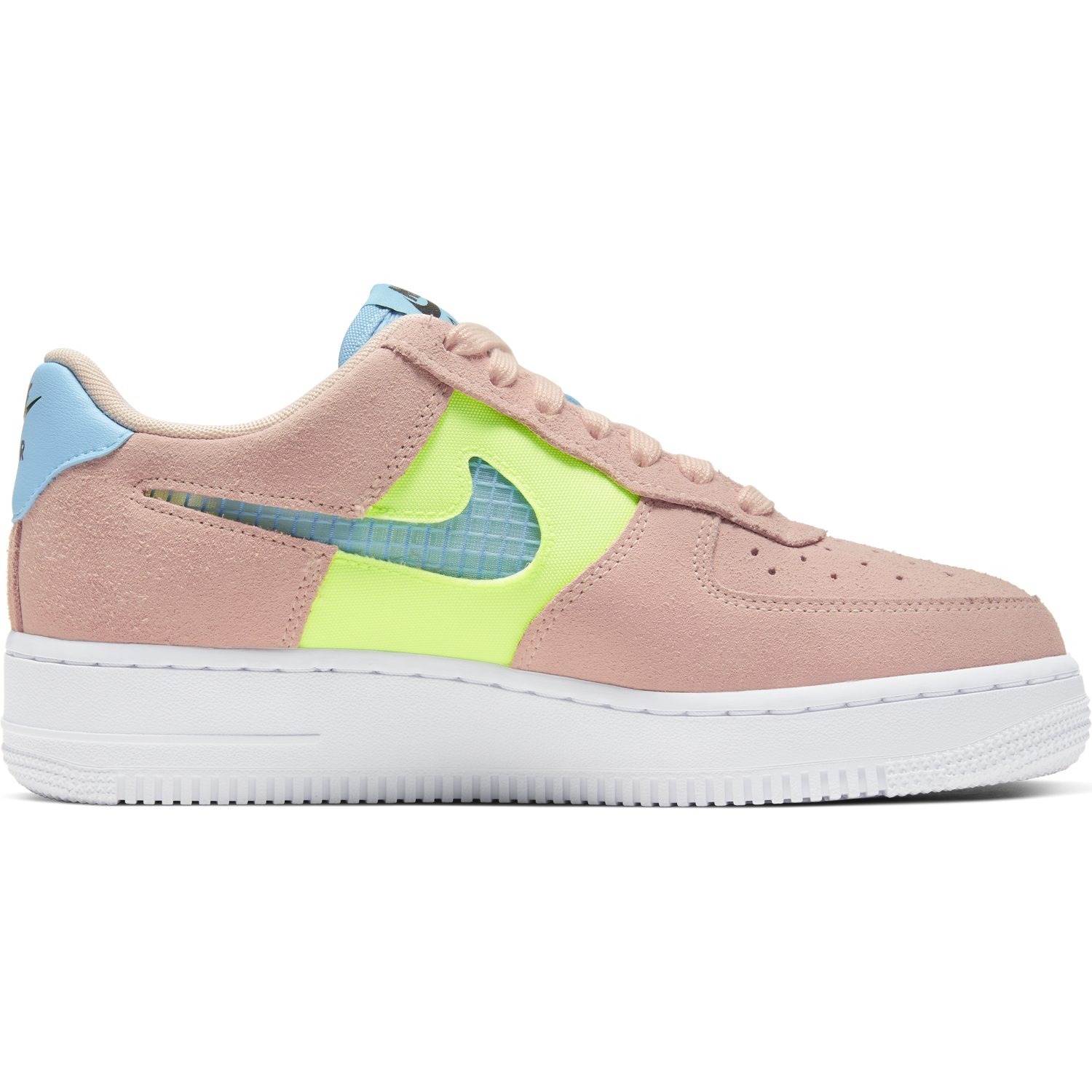 NIKE W'S FOOTWEAR W AIR FORCE 1 '07 SE - WASHED CORAL/ORACLE AQUA