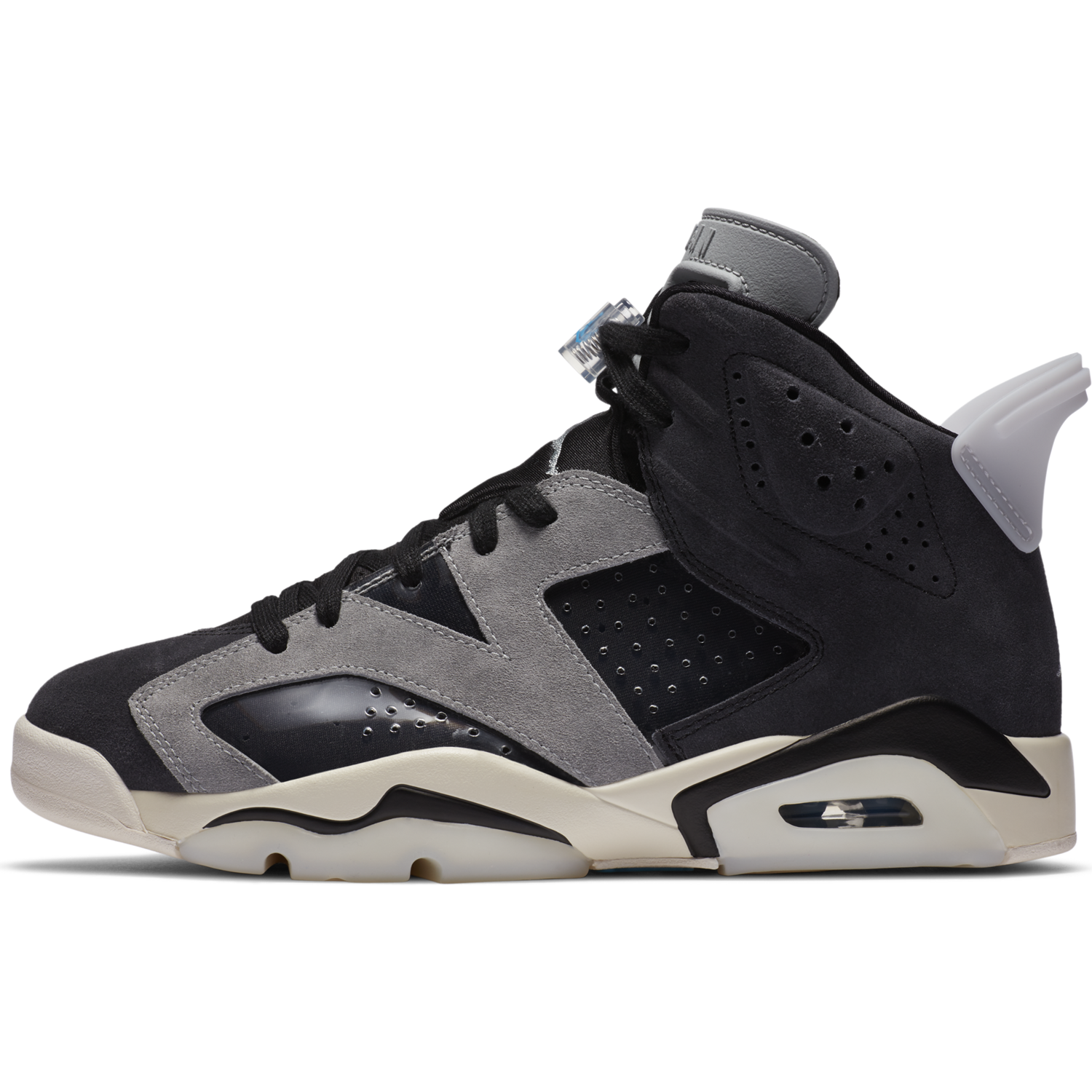 AIR JORDAN W'S FOOTWEAR W JORDAN 6 RETRO - BLACK/LIGHT SOLAR FLARE