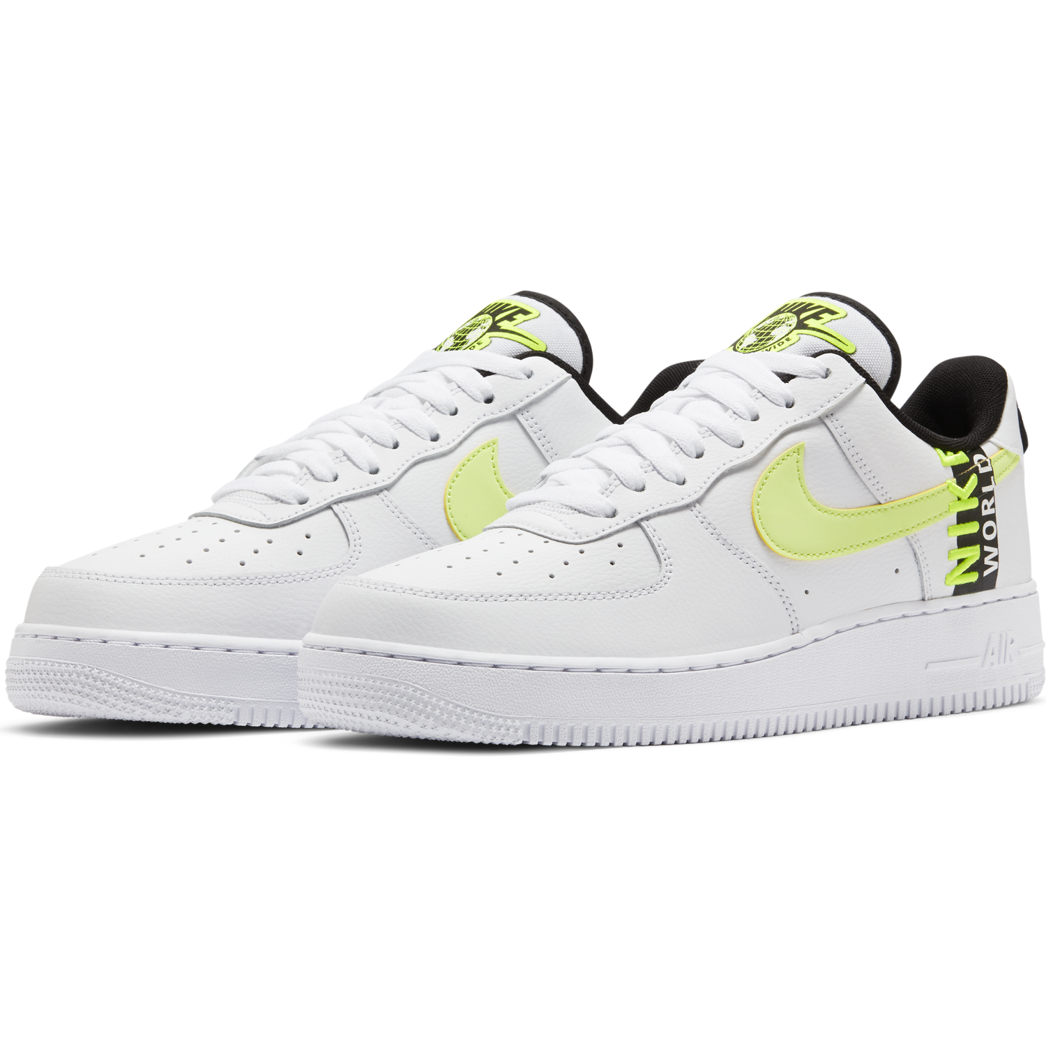 NIKE M'S FOOTWEAR AIR FORCE 1 '07 LV8 WW - WHITE/VOLT