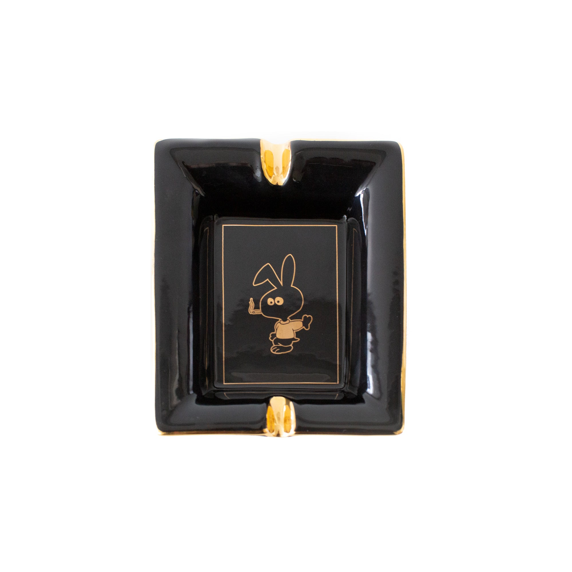 COLD WORLD COUNTER ACCESSORIES GOLD BUNNY ASHTRAY