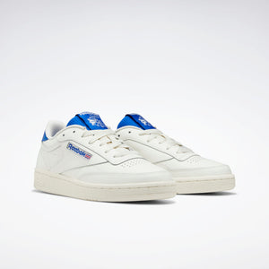 REEBOK W'S FOOTWEAR WOMEN'S CLUB C 85 - CHALK / HUMBLE BLUE / POSH PINK