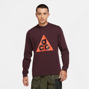 NIKE M'S T-SHIRTS ACG LONG SLEEVE - DEEP BURGUNDY