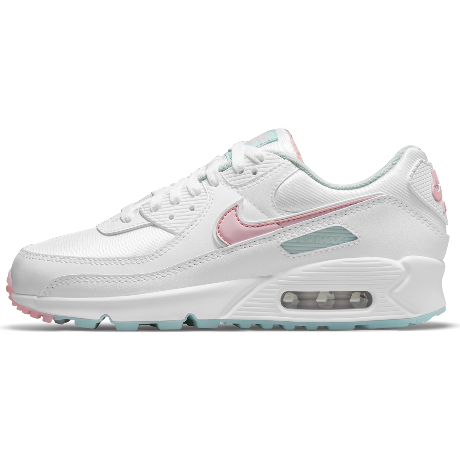 W AIR MAX 90 - WHITE/ARCTIC PUNCH-BARELY GREEN