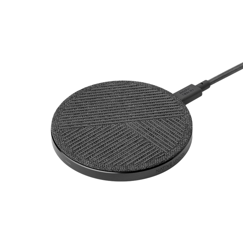NATIVE UNION COUNTER ACCESSORIES DROP WIRELESS CHARGER - SLATE