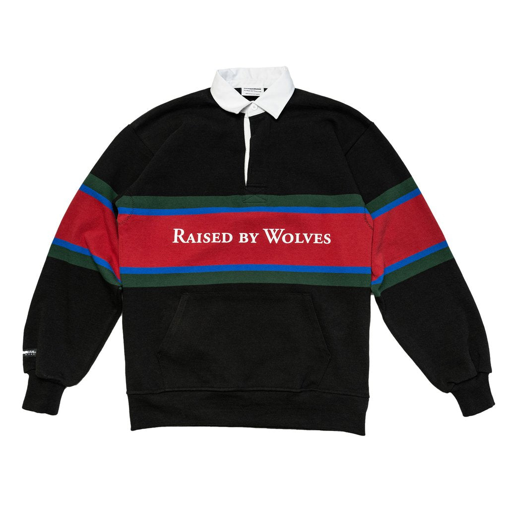 BARBARIAN RUGBY SWEATER - BLACK