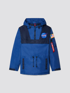 ALPHA INDUSTRIES M'S CASUAL JACKETS BLUE S COLOR BLOCKED NASA ANORAK