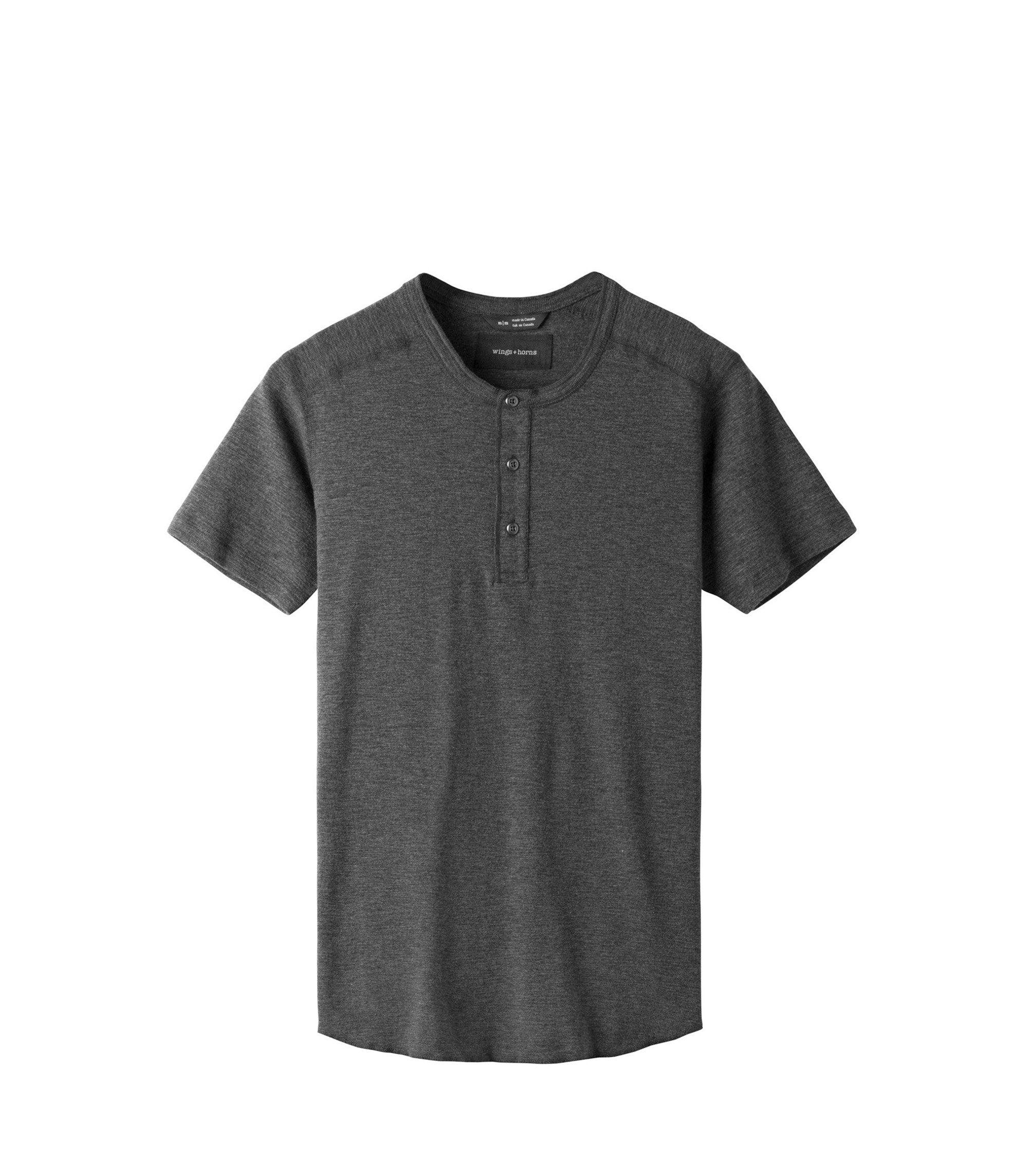 WINGS + HORNS M'S T-SHIRTS BASE S/S HENLEY