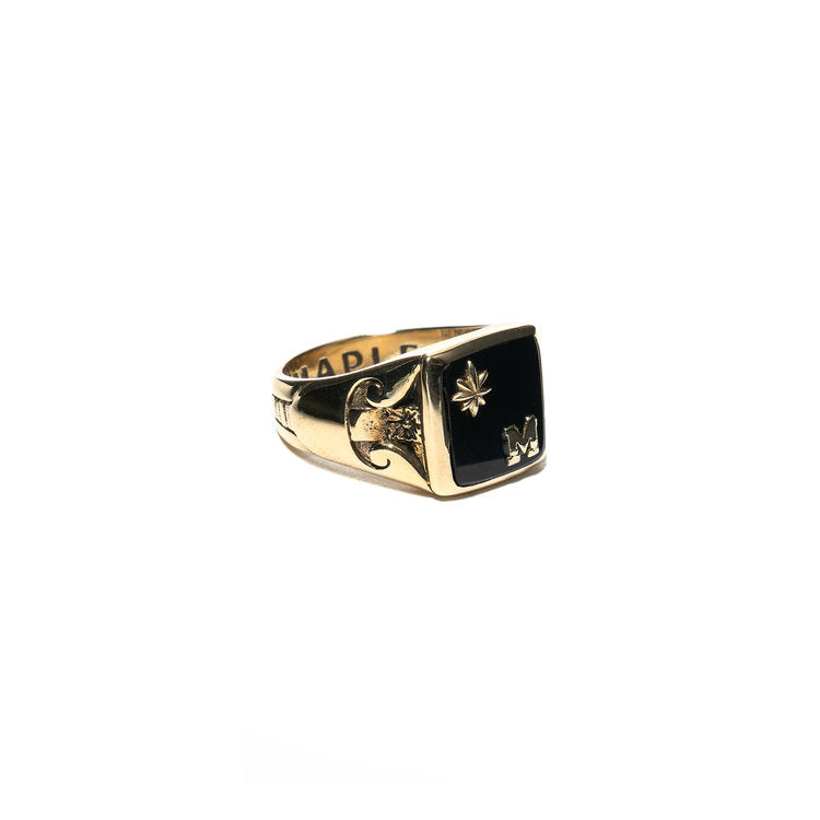 COLLEGIATE RING (BRASS/ONYX)