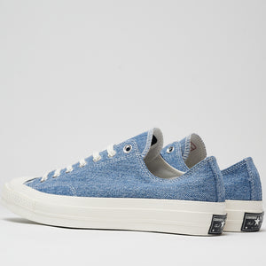 CONVERSE M'S FOOTWEAR RENEW DENIM CHUCK 70 LOW TOP - MEDIUM DENIM/EGRET