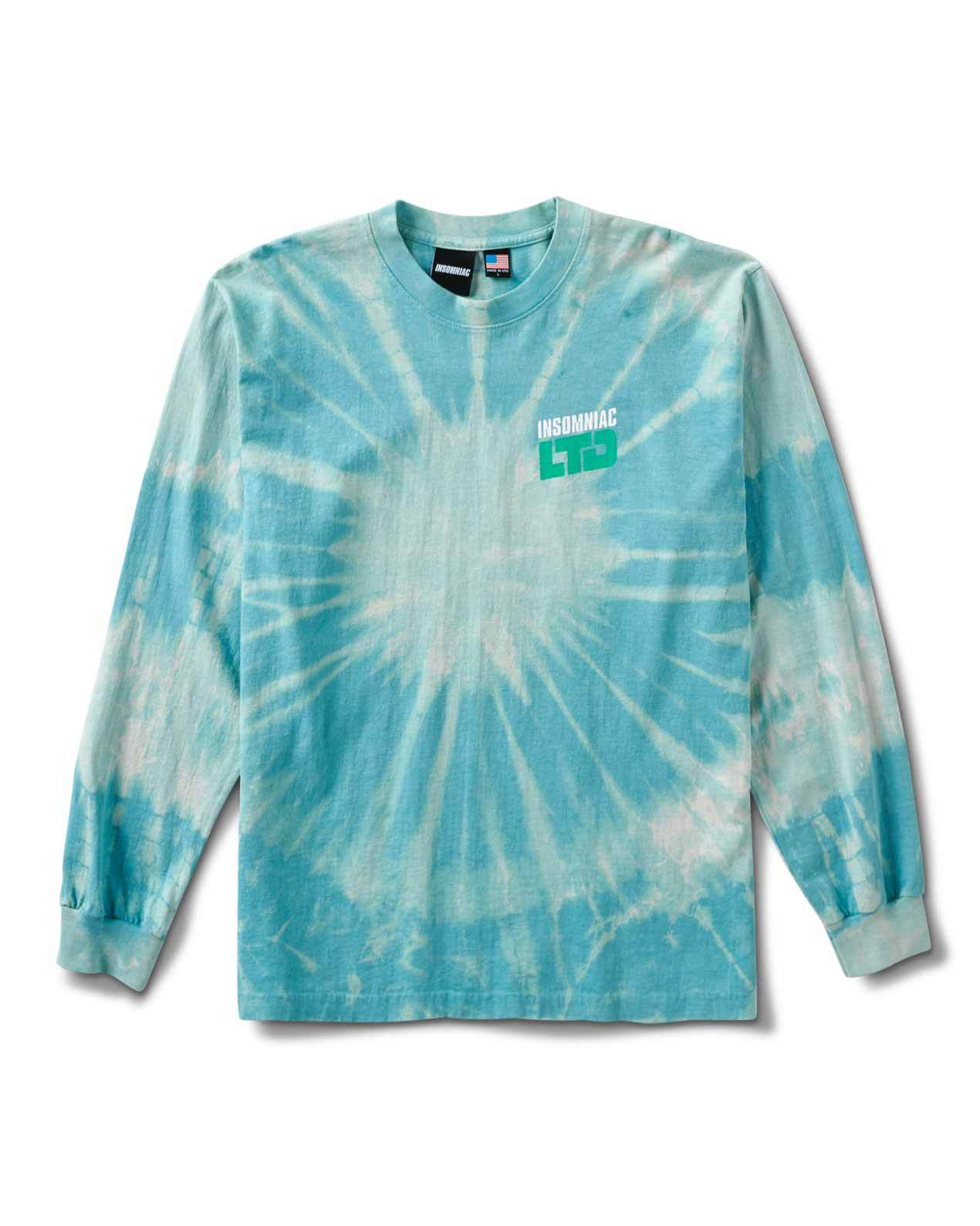 INSOMNIAC M'S SHIRTS WORLD PSYCH PARTY LS T BLUE TIE DYE